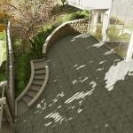 Realização escada externa