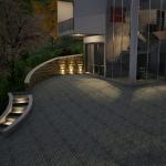Vista à noite escada externa