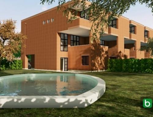 Casas geminadas contemporâneas de arquitetos famosos: o projeto de Botta com modelo BIM e plantas DWG para baixar