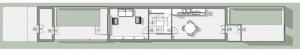 Exemplo de casas geminadas duplas com um percurso misto - projeto em Passau-Neustift. Obra de H. Schroedere S. Widmann