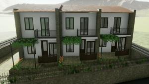 Exemplo de casas geminadas inspiradas nas realizadas no bairro INA casa Zisa – Palermo – render produzido com o software-BIM-Edificius