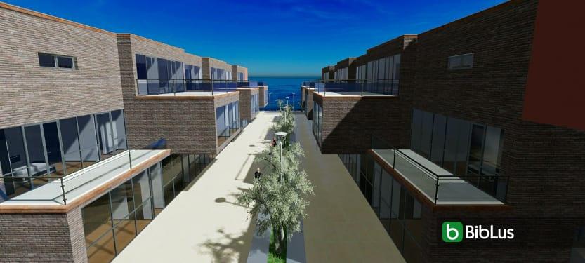 Características das casas geminadas com desenhos DWG e modelos 3D BIM para baixar Water Villas_Edificius