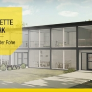 Casas geminadas clássicas e modernas o projeto Lafayette Park de Mies Van der Rohe_Lafayette Park-Mies Van der Rohe