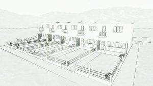 Exemplo de distribuição das habitações Haus 5-9 no bairro Weissenhof em Estugarda