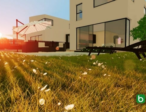Projetos de casas geminadas com pátio e jardim: exemplos e dwg para baixar