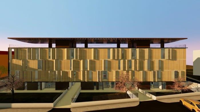 Casas em fita Trame d'Ombra - render realizado com Edificius