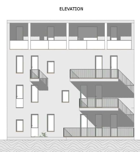 Habitação social – Lecce – elevação