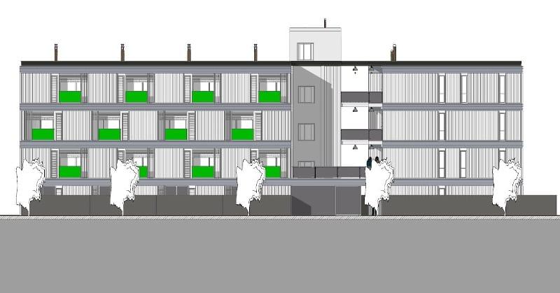 Habitação social – Lleida – elevação