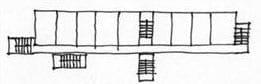 Habitação social com entrada das varandas: ligações