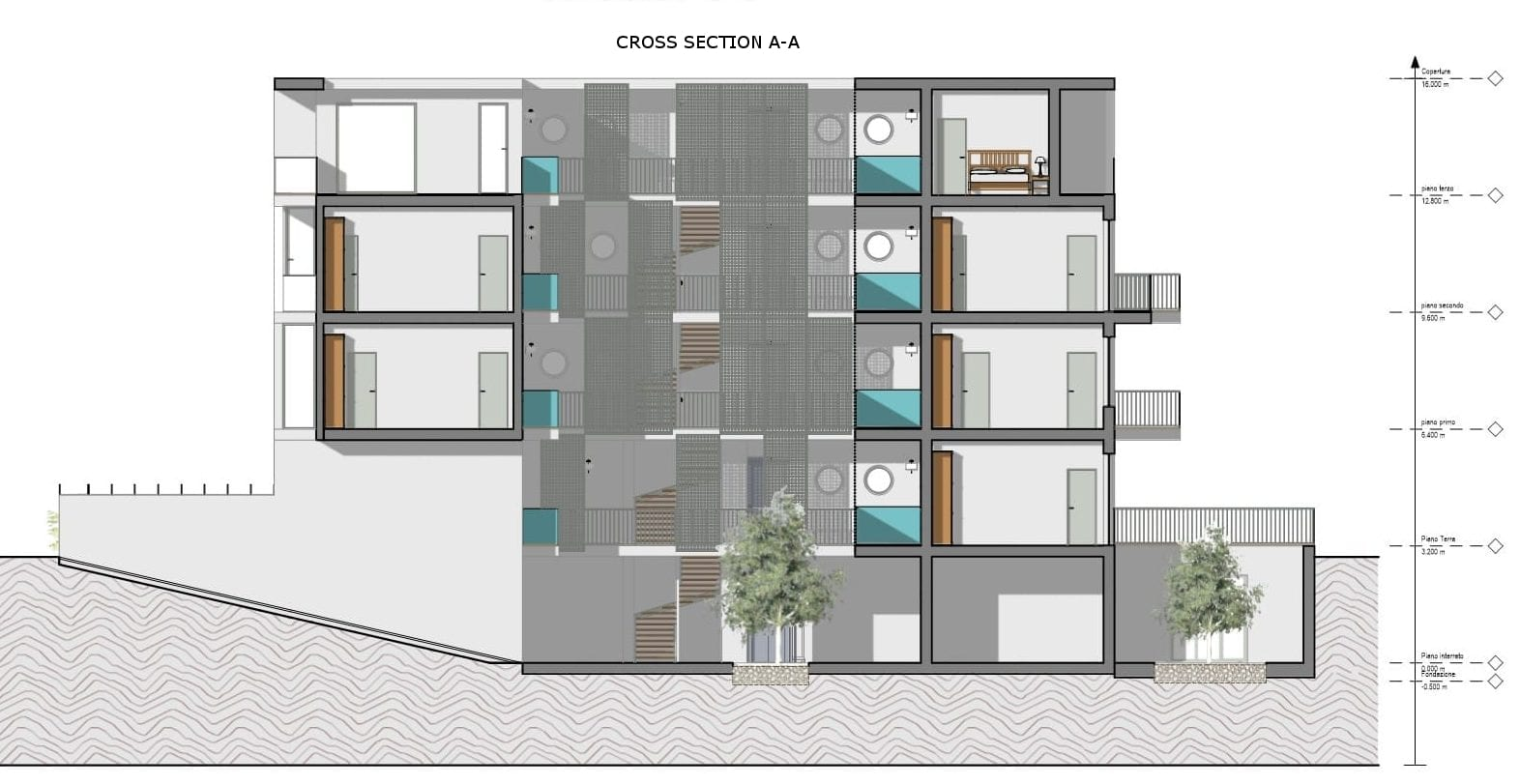 Habitação social – Lecce – corte