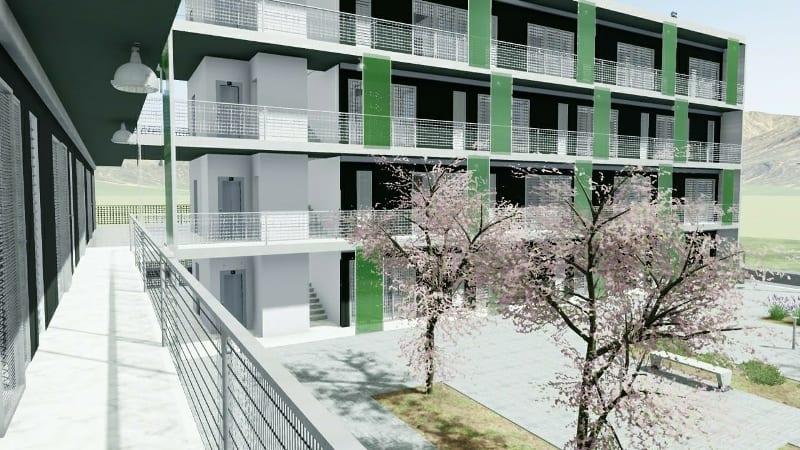Habitação social – Lleida – detalhe exteriores