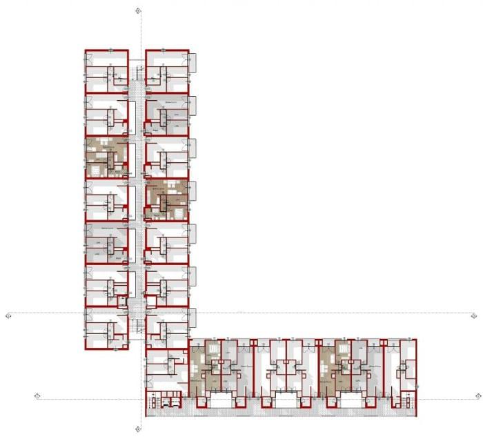 Habitação social - Planta tipo - Terrassa