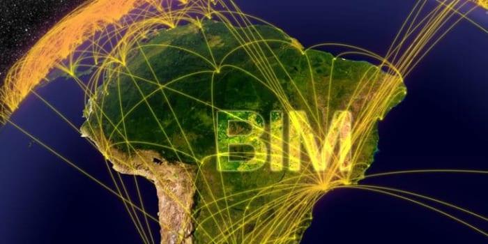 A imagem ilustra a difusao da tencologia BIM no Brasil