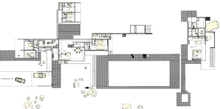 Kaufmann House - planta geral térreo-software-BIM-Edificius