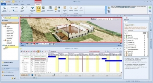Exemplo do BIM 4D integrado no software para arquitetura Edificius