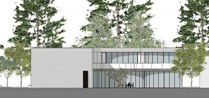 casas unifamiliares arquitetos famosos kwantes elevação