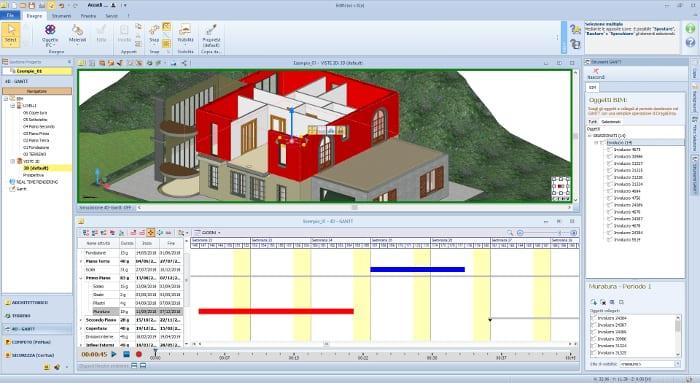 Ambiente 4D-GANTT EAP e Modelo 3D