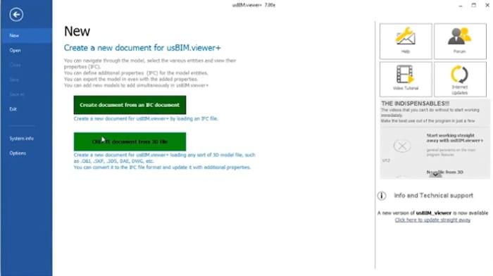 Conversão de modelos 3D para o formato IFC com usBIM.viewer
