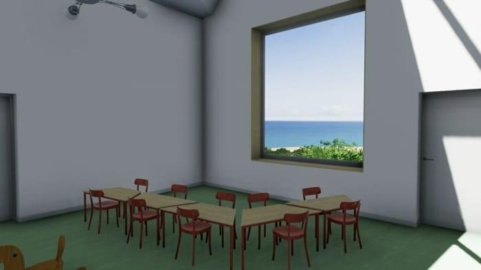 Day-care-centre_Raa_mobiliário sala de aulas_render-programa de arquitetura BIM-Edificius