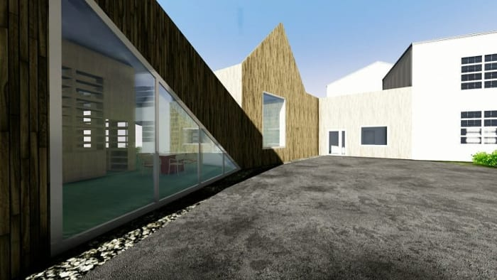 Day-care-centre_Raa_pátio_render-programa de arquitetura BIM-Edificius