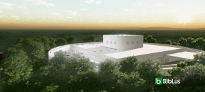 Projeto arquitetônico de escola infantil com o modelo 3D BIM
