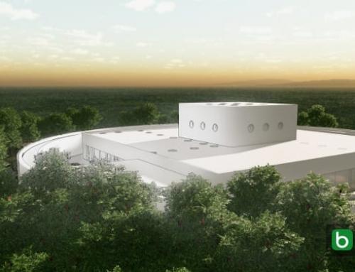 Projeto arquitetônico de escola infantil com o modelo 3D BIM e desenhos DWG para baixar