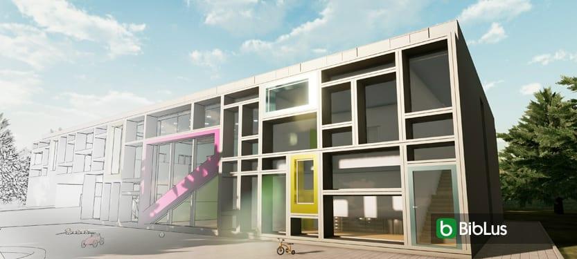 Projeto arquitetônico de uma escola-Creches-Troplo-Kids_programa de arquitetura BIM_Edificius