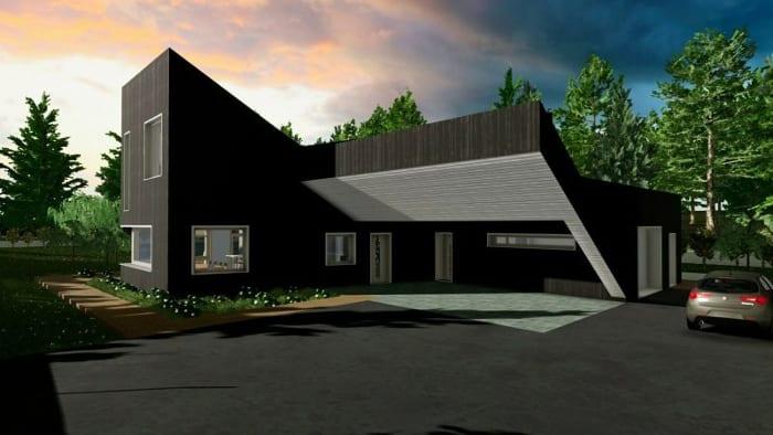 Projetos de casas unifamiliares-projeto-A-render-software-BIM-Edificius