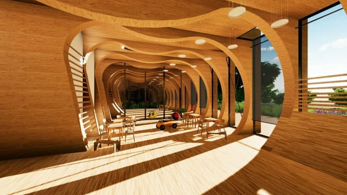 AulaSala de aula-creche_La-Balena_Render_projetos- de-escolas-software-BIM-arquitetura-Edificius