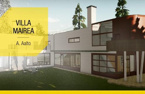 Villa Mairea o projeto em DWG e 3D BIM para baixar de uma obra de arte do seculo XX_Edificius