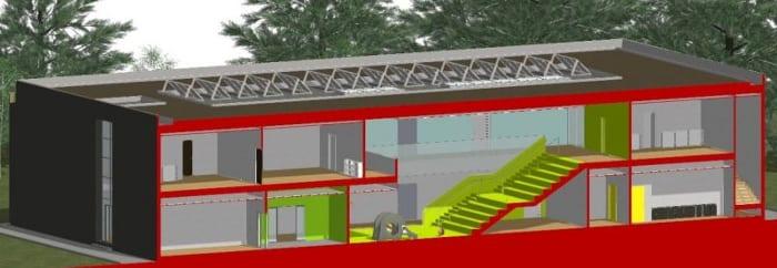 Vista em corte isométrica-01-Troplo-Kids_programa de arquitetura BIM_Edificius