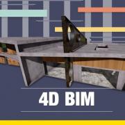Dimensão 4D BIM - Software simulação e planejamento da obra