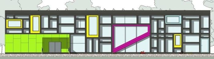 elevação-WEST-Troplo-Kids_programa de arquitetura BIM_Edificius