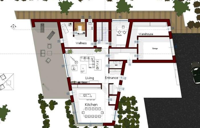 piso-térreo-projeto-A-software-BIM-Edificius