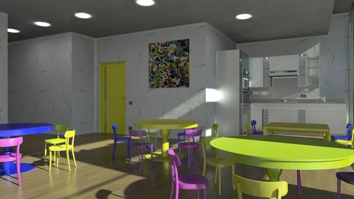 refetório_projetos de escolas-Troplo-Kids_render_programa de arquitetura BIM_Edificius