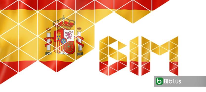 A imagem mostra a escrita BIM decorada com as cores da bandiera espanhola