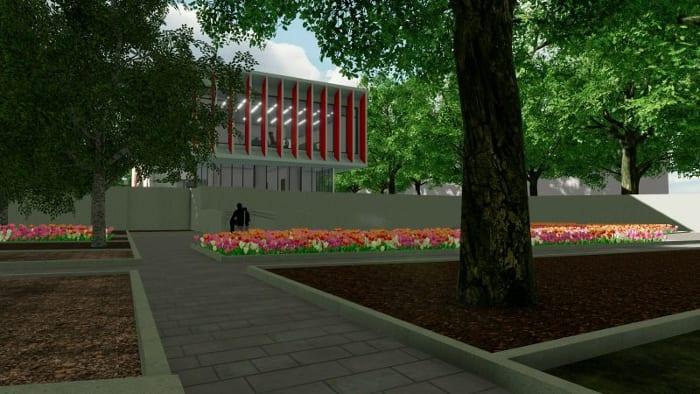 Harvey-Pediatric-Clinic_Render-fachada-programa- arquitetura-BIM-Edificius