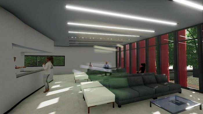 Harvey-Pediatric-Clinic_Render-recepção_programa- arquitetura-BIM-Edificius