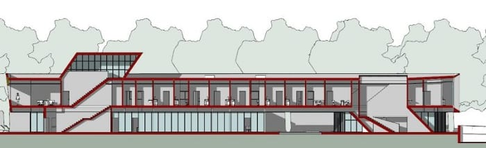 Harvey-Pediatric-Clinic_corte-B-B_Edificius_programa de arquitetura BIM