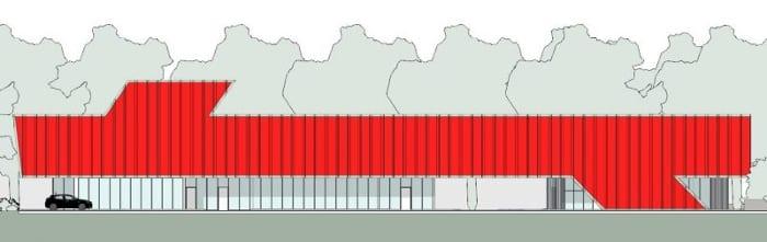 Harvey-Pediatric-Clinic_elevação-SUL_Edificius_programa de arquitetura BIM
