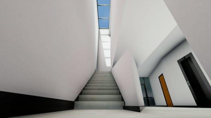 Harvey-Pediatric-Clinic_clarabóias escadas_Render_Edificius_programa de arquitetura BIM