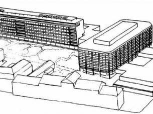 Hospital com vários blocos