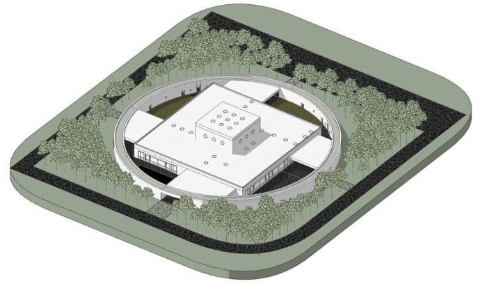 Projeto-centro-para a infância_Axonometria_Ponzano-Children_software-BIM-arquitetura-Edificius