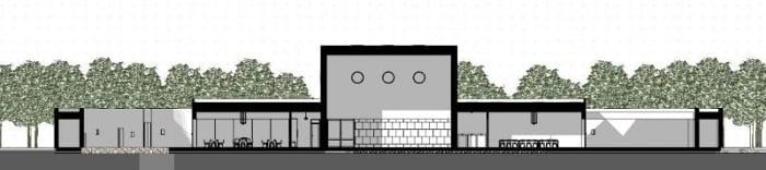 Projeto-centro-para a infância_Corte-B-B_Ponzano-Children_software-BIM-arquitetura-Edificius
