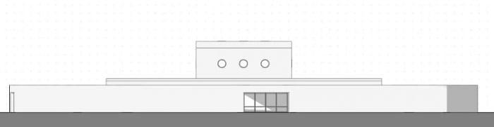 Projeto-centro-para a infância_Elevação_Ponzano-Children_software-BIM-arquitetura-Edificius