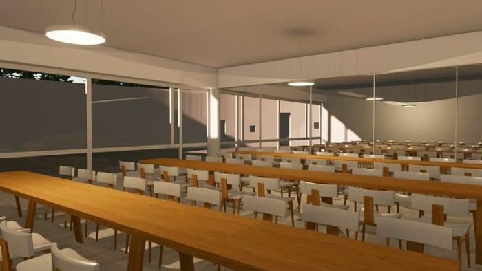 Projeto-centro-para a infância_refetório_render-software-BIM-arquitetura-Edificius