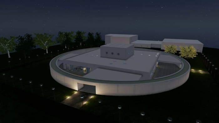 Projeto-centro-para-infância_vista-à noite_render-software-BIM-arquitetura-Edificius