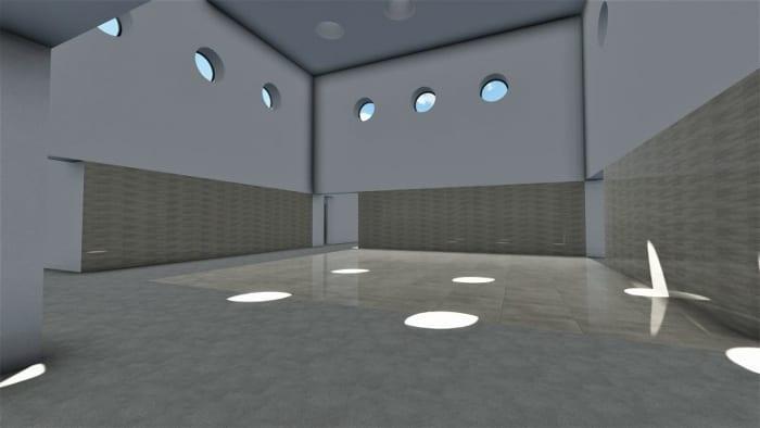 Projeto centro para infância_ambiente-ginásio_render-software-BIM-arquitetura-Edificius