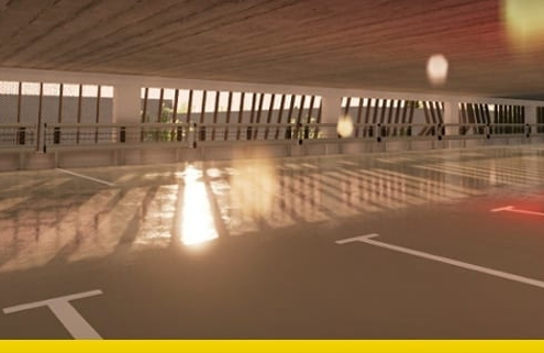 Projeto de estacionamento DWG tipos exemplos e modelo arquitetonico 3D BIM_software Edificius