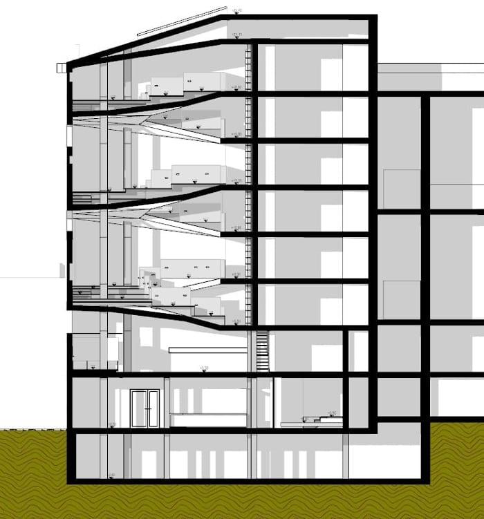 Corte_projetar uma biblioteca_ programa de arquitetura BIM Edificius